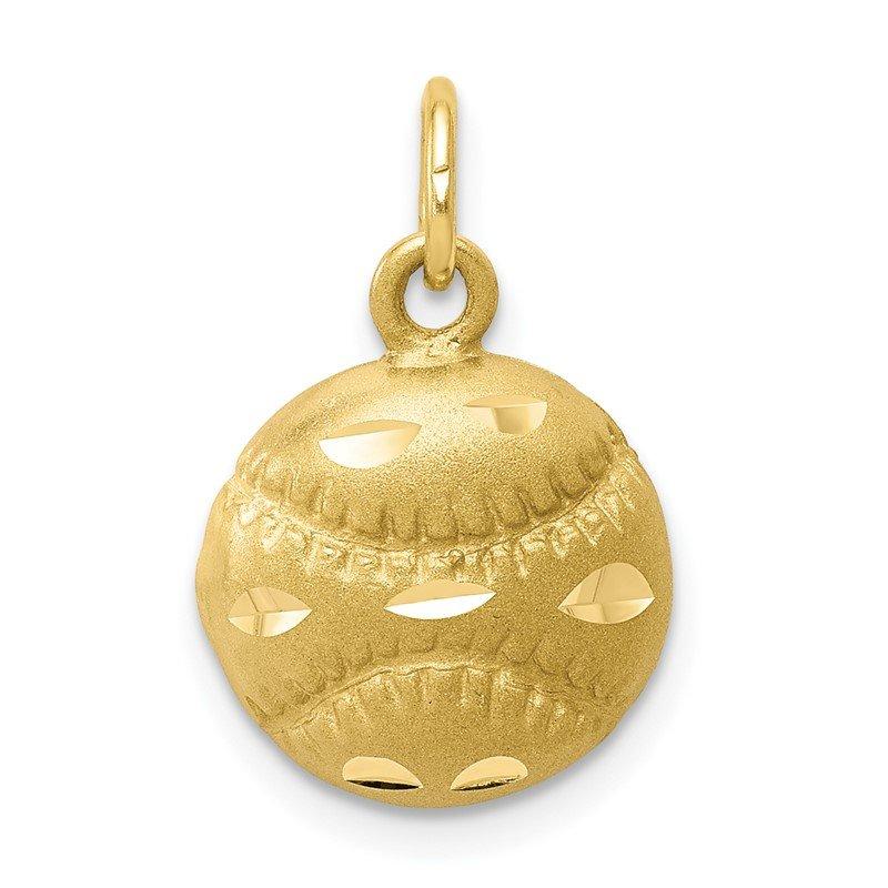 Quality Gold 10K Baseball Charm