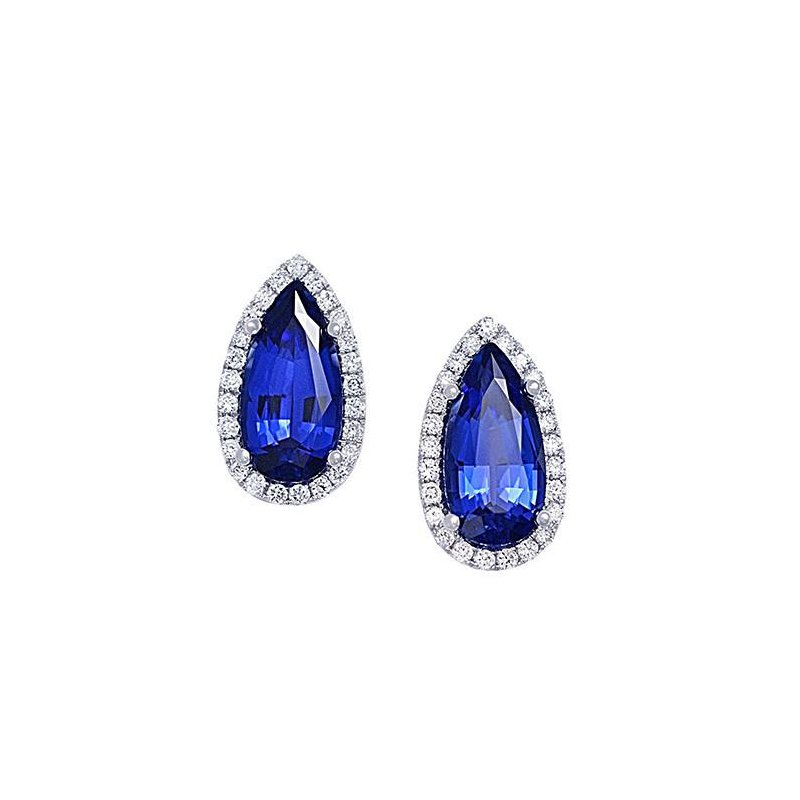 47853626c Bogart's Jewellers: Chatham Blue Sapphire Earrings-CE3832WBS