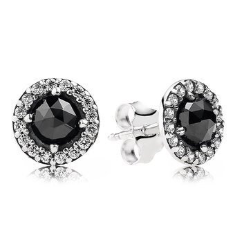 Glamorous Legacy Stud Earrings, Black Spinel Cz