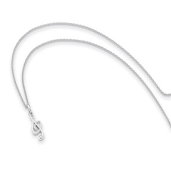 SS White Ice Diamond Musical Necklace
