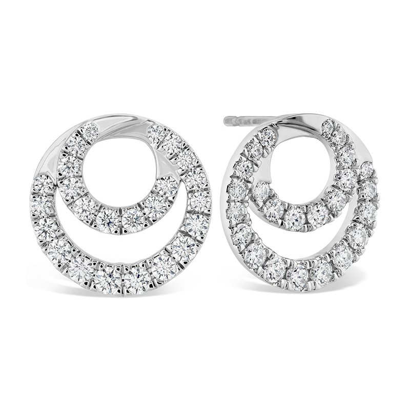 Hearts on Fire 1.15 ctw. Optima Diamond Circle Earrings