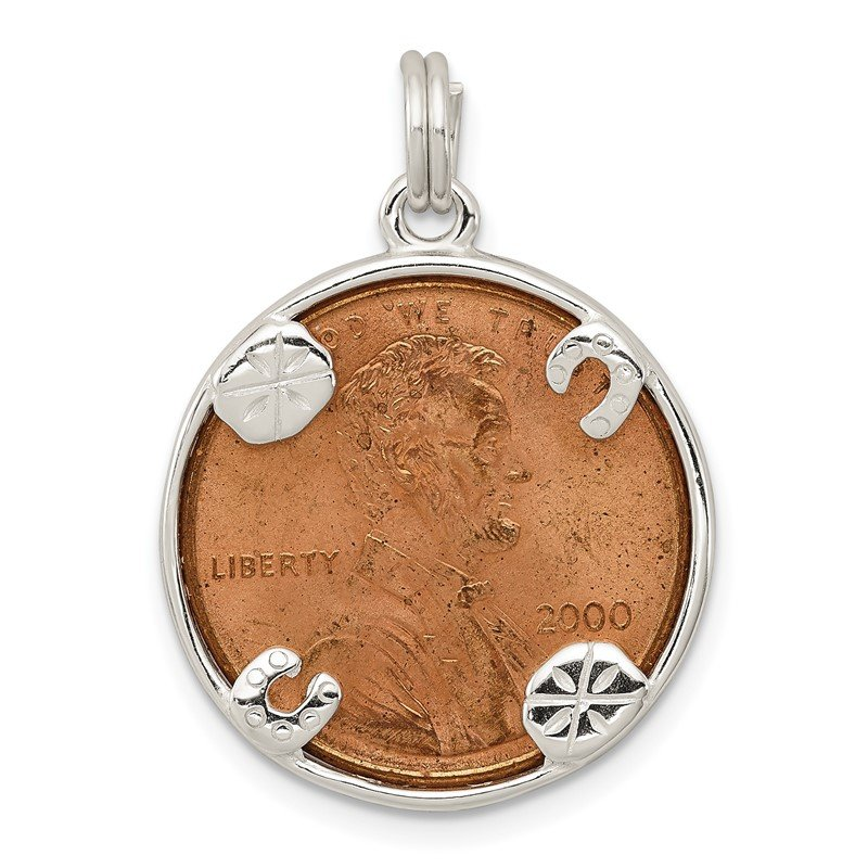 Quality Gold Sterling Silver Penny Charm