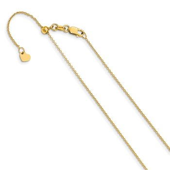 Leslie's 14K Adjustable .7mm Round Cable Chain