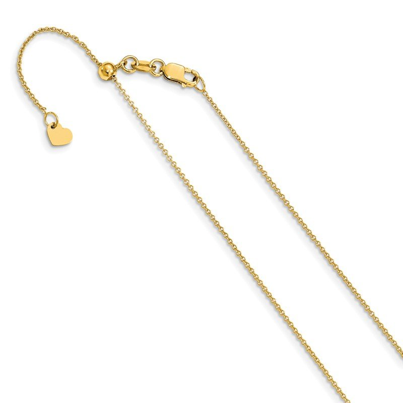 Leslie's Leslie's 14K .7 mm Round Cable Adjustable Chain