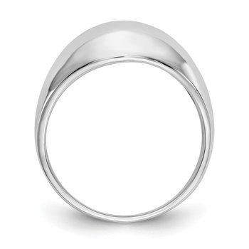 14k White Gold Polished Dome Ring