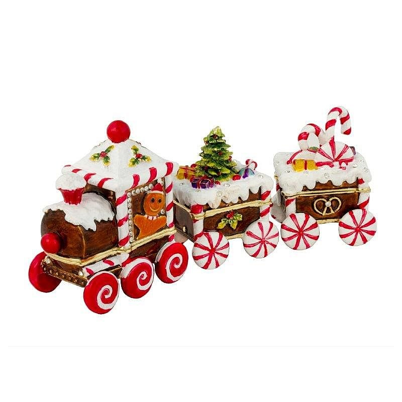 Luxury Giftware by Jere Candy Cane Train 3 pieces