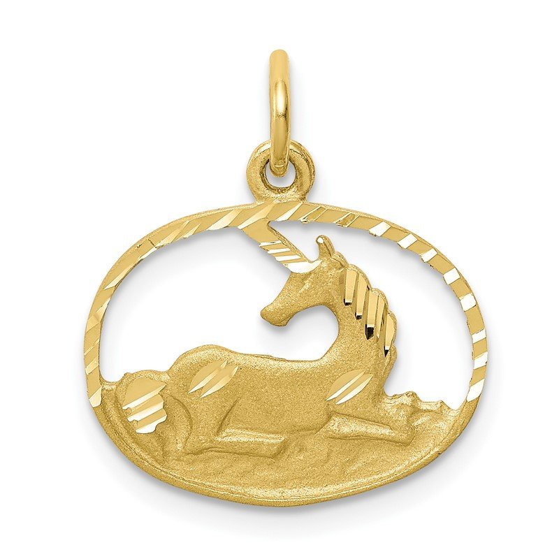 Quality Gold 10k Unicorn Charm