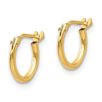 14k Madi K 1.25mm Half Hoop Earrings