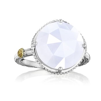 Bold Simple Gem Ring featuring Chalcedony