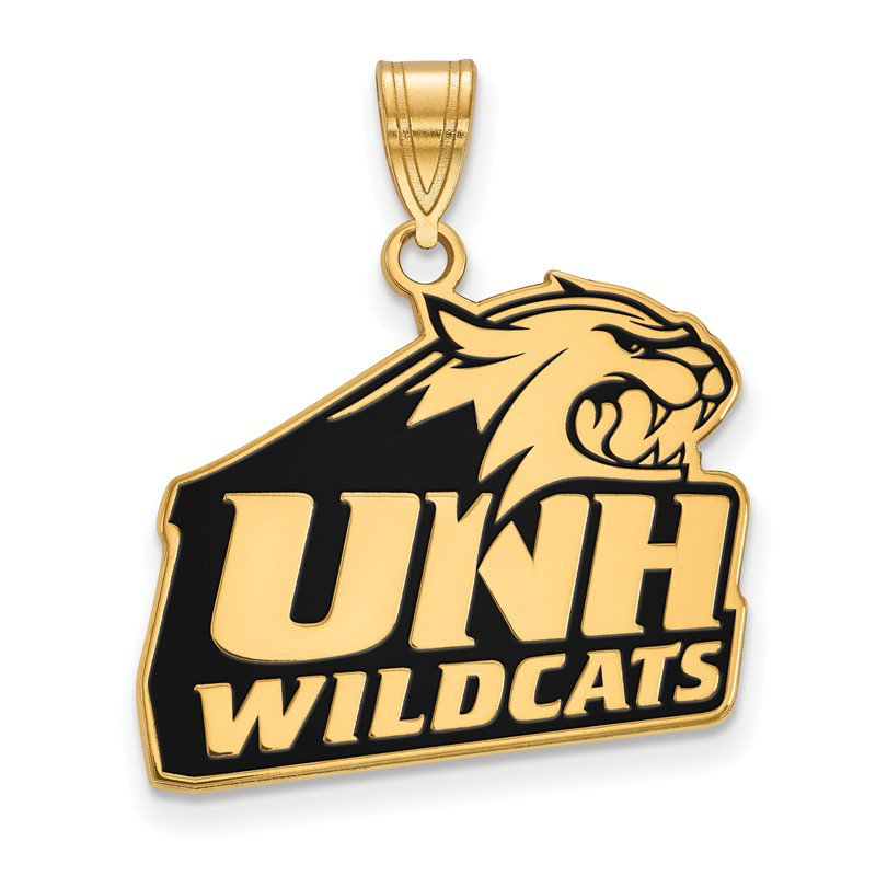 NCAA Gold-Plated Sterling Silver University of New Hampshire NCAA Pendant
