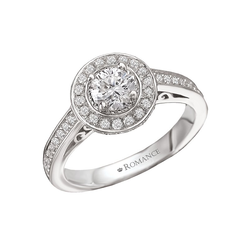 Romance Round Halo Diamond Ring