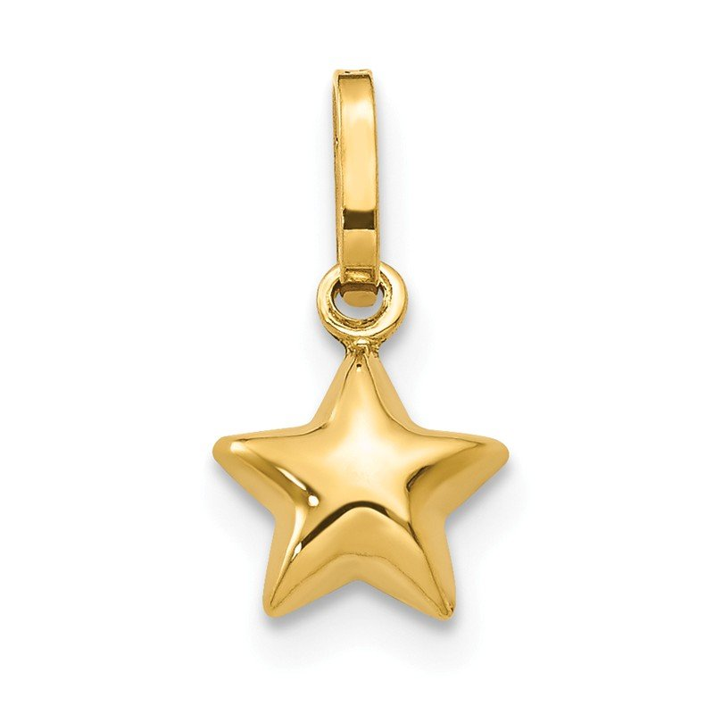 Quality Gold 14k Puffed Star Charm