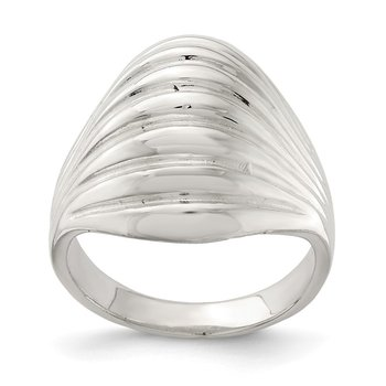 Sterling Silver Solid Domed Ring