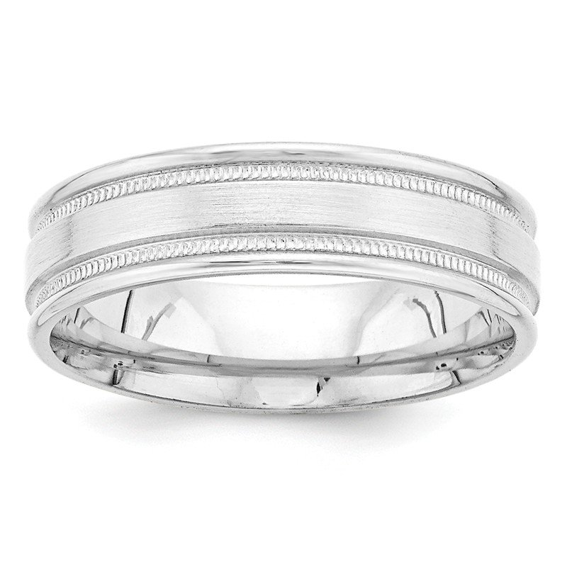 Quality Gold 14k White Gold Light Comfort Fit Brush Satin Fancy Band