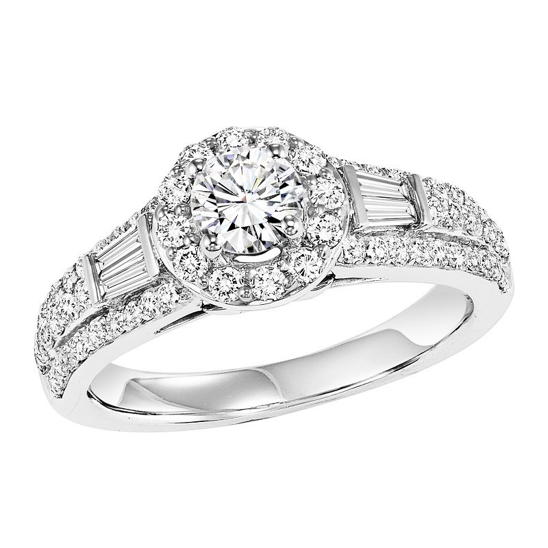 Bridal Bells 14K Diamond Engagement Ring 3/4 ctw With 1/2 ct Center