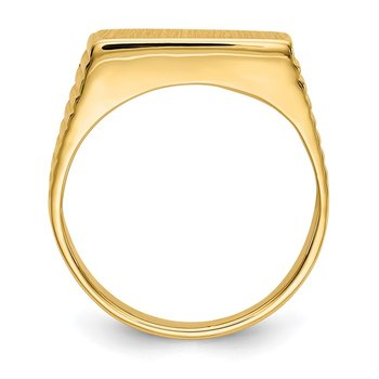 14k 7.0x15.0mm Open Back Men's Signet Ring