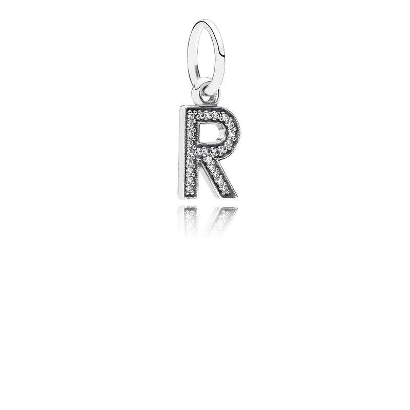 454016b22 Taylor's Jewellery Shop: PANDORA Letter R, Clear Cz