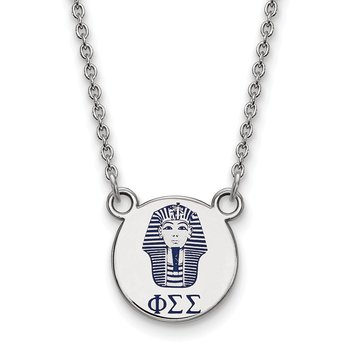 Sterling Silver Phi Sigma Sigma Greek Life Necklace