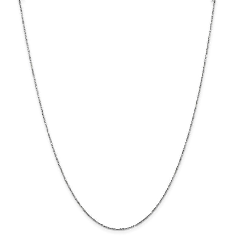 Quality Gold 14K White Gold .70mm Ropa Chain
