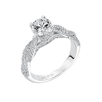 Twist Diamond Engagement Semi
