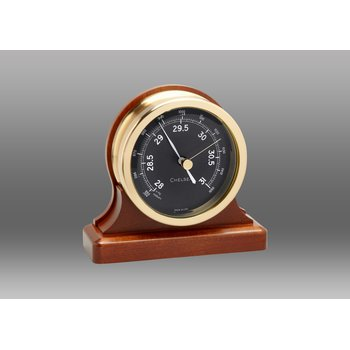 "3.5"" Voyager Barometer on Cherry Base"