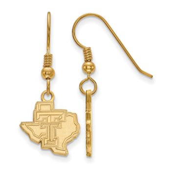 Gold-Plated Sterling Silver Texas Tech University NCAA Earrings