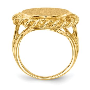 14k 14.5x15.0mm Open Back Signet Ring