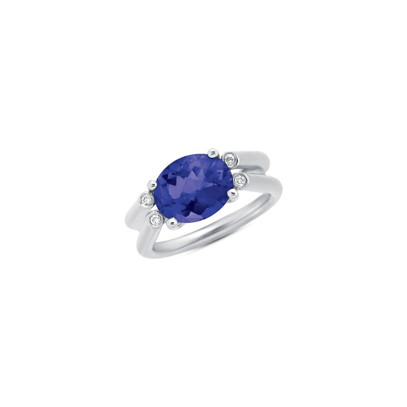 Briana Iolite & Diamond Ring