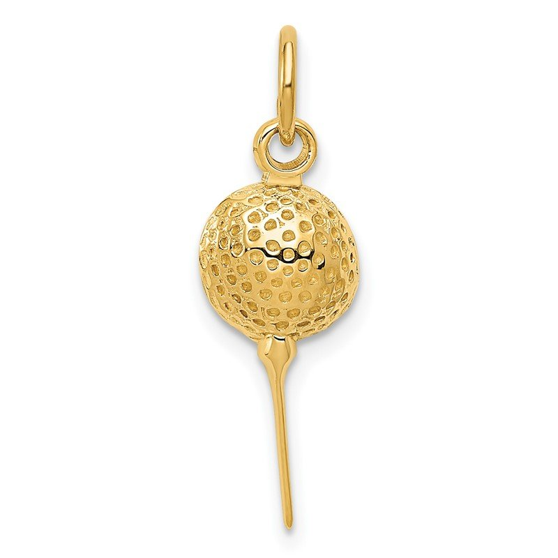 Quality Gold 14k Golf Ball Charm
