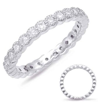 White Gold Stackable Eternity Band