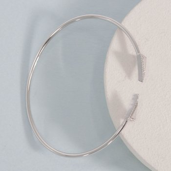 Triangle Sterling Silver Flexi Bangle