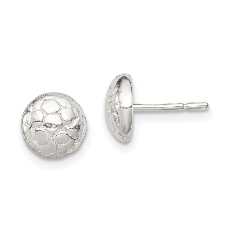 Quality Gold Sterling Silver Soccer Ball Mini Earrings
