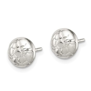 Sterling Silver Soccer Ball Mini Earrings