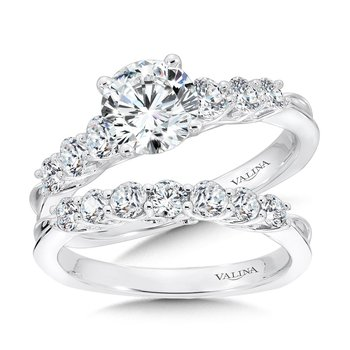 Tapered Straight Diamond Engagement Ring