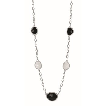 Sterling Silver .16ct. Dia Gem Candy Necklace