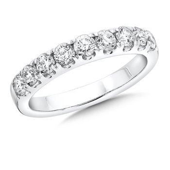 Prong set Diamond Wedding Band 14k White Gold (1/4 ct. tw.) HI/SI2-SI3
