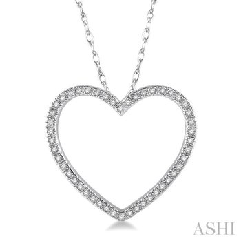 heart shape diamond pendant