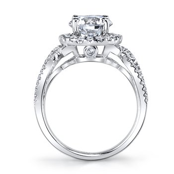 MARS 25588 Diamond Engagement Ring 0.51 Ctw.