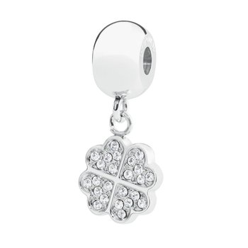 316L stainless steel and Swarovski® Elements white crystals.