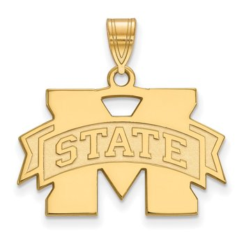 Gold Mississippi State University NCAA Pendant