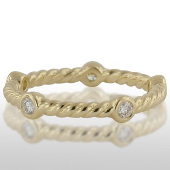 Ladies' Green Gold Diamond Ring