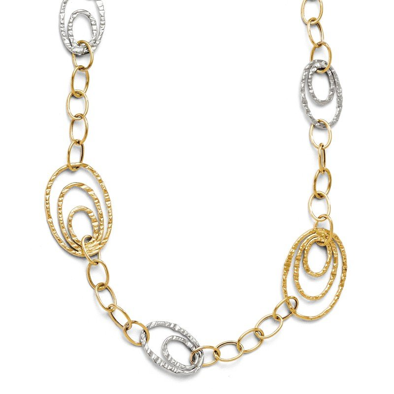 Leslie's Leslie's 14K Two-tone Fancy Link Necklace
