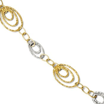 Leslie's 14K Two-tone Fancy Link Necklace