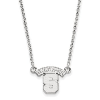 Sterling Silver Syracuse University NCAA Necklace