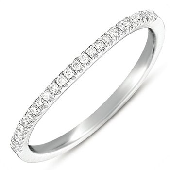 White Gold Curved Band