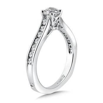 Criss Cross Engagement Ring in 14K White Gold with Platinum Head (1/2ct. tw.)