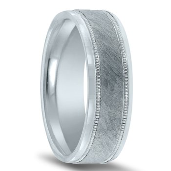 N17217 - Men's Wedding Band with Organic Finish
