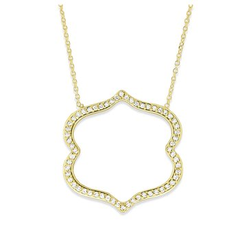 Diamond Necklace in 14K Yellow Gold with 60 Diamonds Weighing .27 ct tw