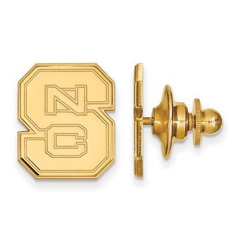 Gold North Carolina State University NCAA Lapel Pin
