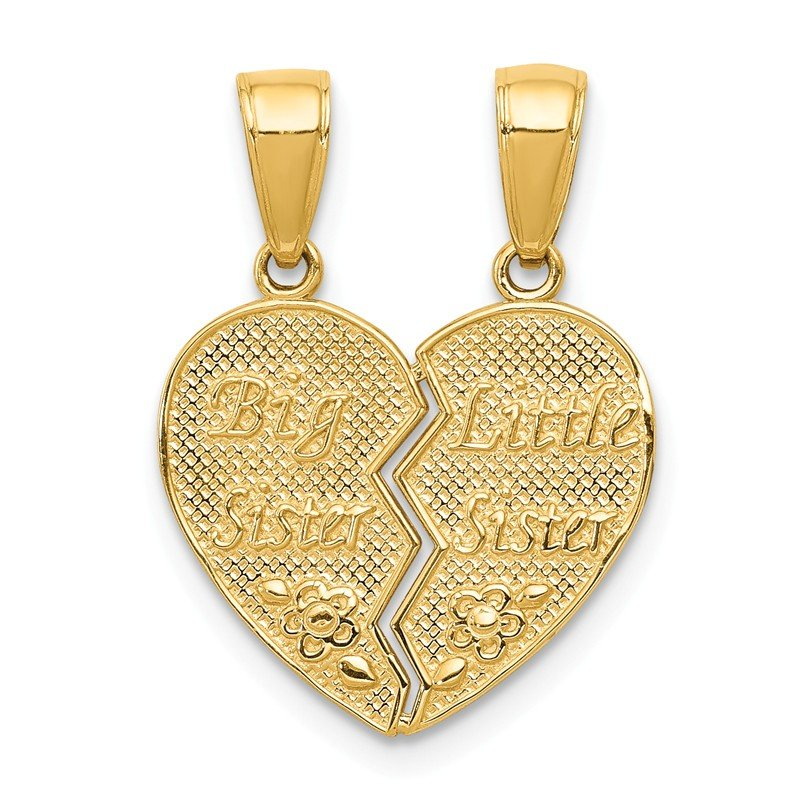Quality Gold 14k Big Sister/Little Sister Break-apart Charm